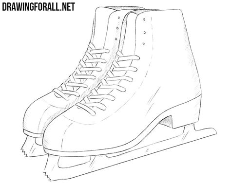 how to draw a boat using the figure eight how to draw ice skates drawingforall net