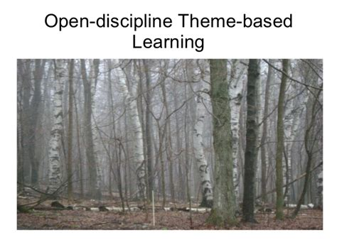 theme based education open discipline theme based learning