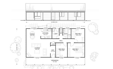 kit home floor plans hunter 3 met kit homes 3 bedroom steel frame kit home