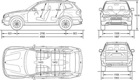 Abmessung Bmw X3 by Car Blueprints Bmw X3 E83 20i Blueprints Vector