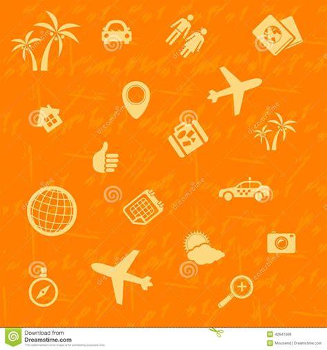 pattern travel background vector travel background orange seamless pattern stock