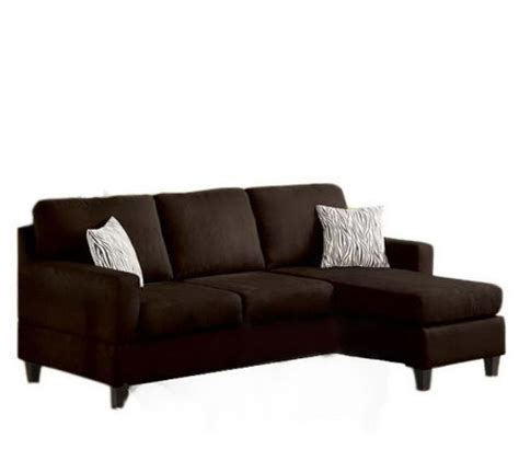 anthony microfiber chaise sectional sofa by acme furniture