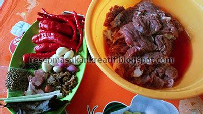 Dendeng Basah Lambok resep dendeng sapi batokok bumbu balado cabe merah sederhana aneka resep masakan sederhana kreatif