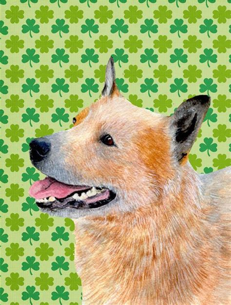 australian cattle dog st patricks day shamrock flag