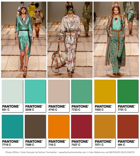 2017 color of the year fashion etro spring summer 2017 collection color codes fashion