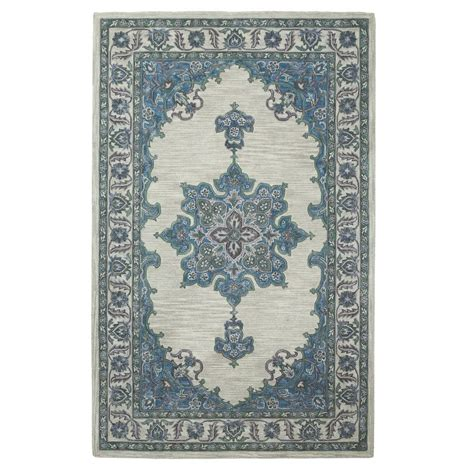 home accent rug collection home decorators collection euclid blue green 2 ft x 3 ft