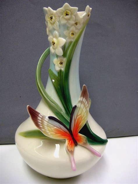 franz vase franz porcelain papillon butterfly vase 2624 papillons