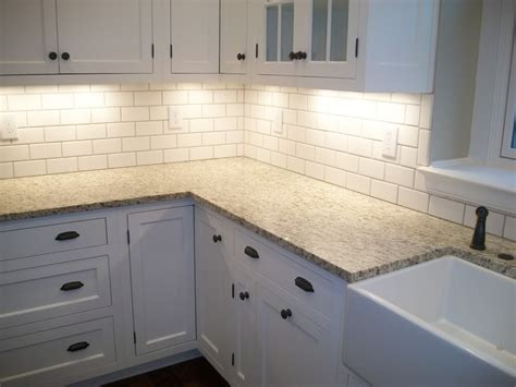 photos of kitchen backsplash top 18 subway tile backsplash design ideas with various types
