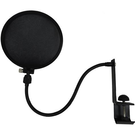 Stand Mic Boom Pop Filter nady microphone pop filter with boom and stand cl spf 1 b h