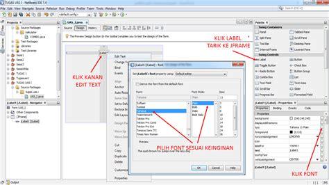 membuat menu dropdown di netbeans cara membuat aplikasi sederhana menggunakan jframe java