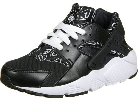 huarache run shoes nike huarache run print gs shoes black
