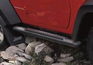 mopar oem jeep wrangler 3 quot black powder coat tubular side