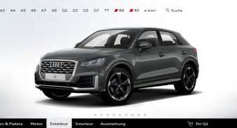 Audi Onlinr Audi S Configurator For The Q2 Is Now Up And Running