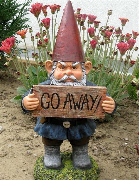 funny garden gnomes ideas  pinterest