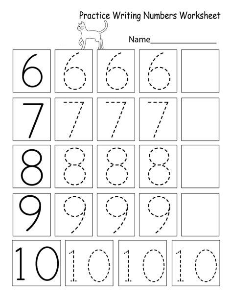Printable Number Worksheets
