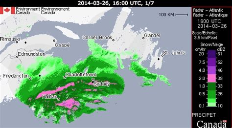 canadian weather environment canada powerful spring blizzard hitting maritimes close to a