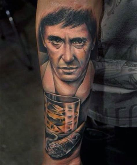 scarface tattoo 40 scarface design ideas for al pacino ink