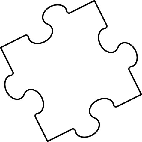 puzzle pieces coloring page clipart best