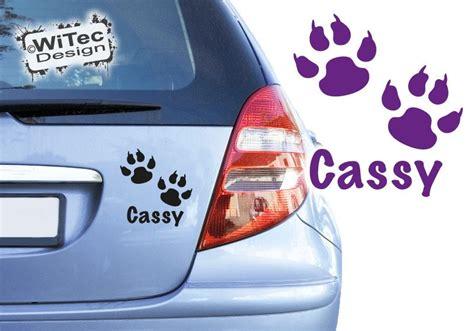 Aufkleber Namen Bestellen by Autoaufkleber Pfote Hund Name Auto Aufkleber Sticker