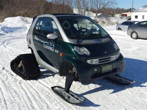 smart car deer ottawa builds a hybrid smart car snowmobile cottage