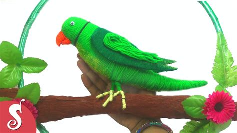 parrot decorations home diy woolen parrot wall hanging for home decoration