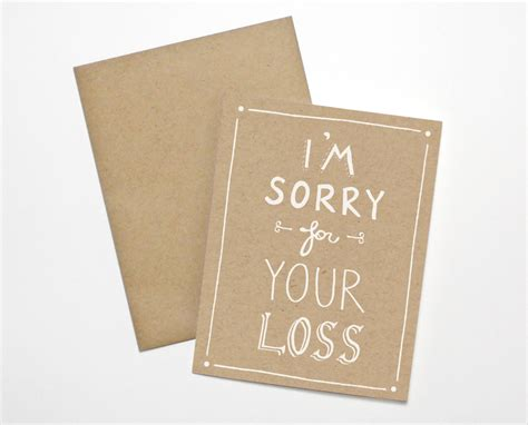 sorry for your loss card template sympathy card i m sorry for your loss