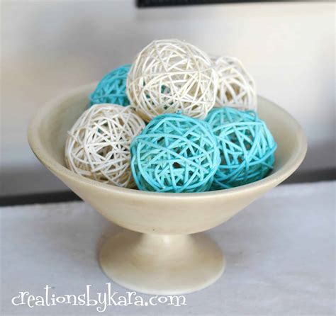 home decor balls diy spray paint decor balls