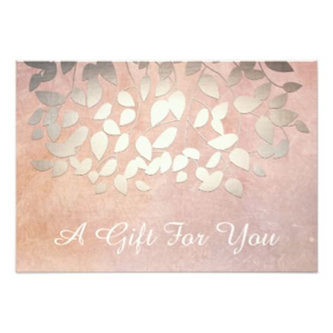 Spa Gift Cards - certificate cards zazzle