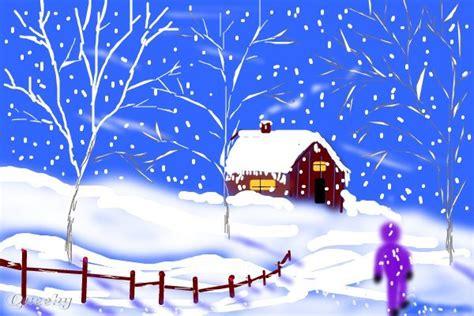 winter wonderland  landscape speedpaint drawing