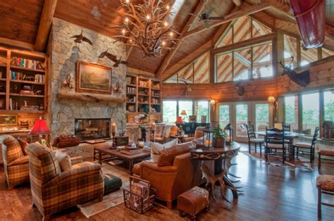 luxury log home interiors log cabin interior design ideas
