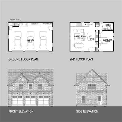 three car garage with apartment bar harbor garages shingle style home plans by david