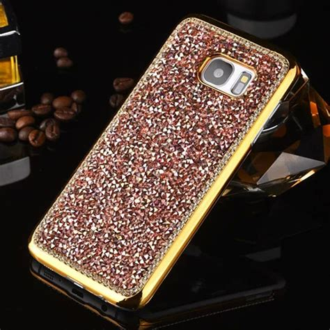 Glitter Samsung Galaxy S7 Edge Gold luxury bling glitter cover for samsung galaxy s7 edge s7 ebay