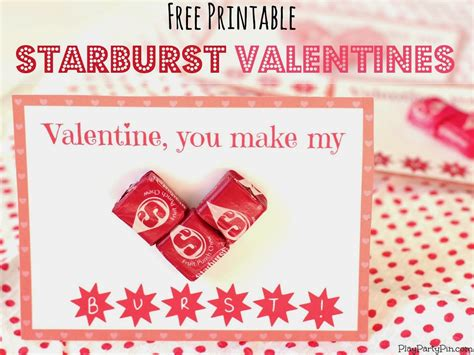 starburst valentines free printable starburst valentines play plan