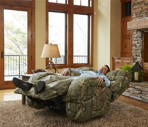 camo reclining sofa appalachian power lay flat reclining sofa in mossy oak or