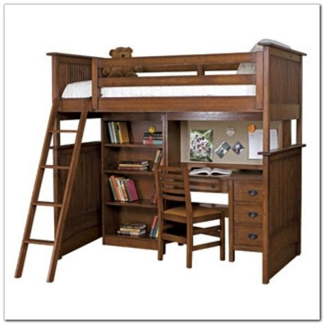 bunk beds with desk wood bunk bed with desk and drawers desk interior