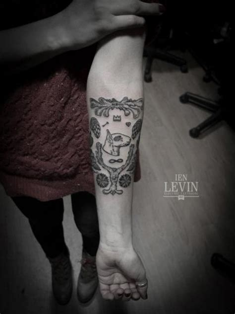 arm dotwork tattoo by ien levin