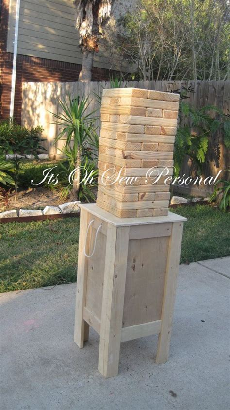 patio jenga giant jenga inspired game includes stand outdoor living