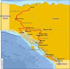 coast canada map route hobobiker randy and nancy s big bike trip