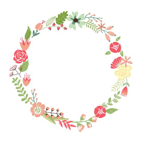 flower frame template floral frame retro flowers arranged un a shape of