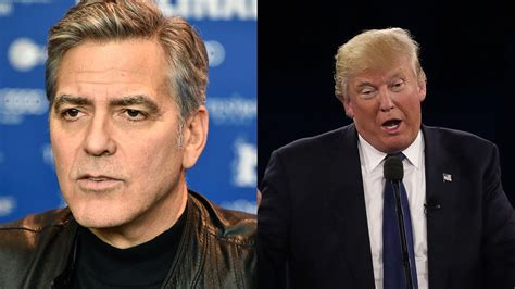 George Clooney Slams by George Clooney Slams Donald In Clinton