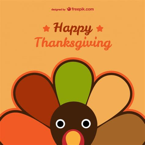 Happy Thanksgiving Card Printout Template by Happy Thanksgiving Card Vector Free