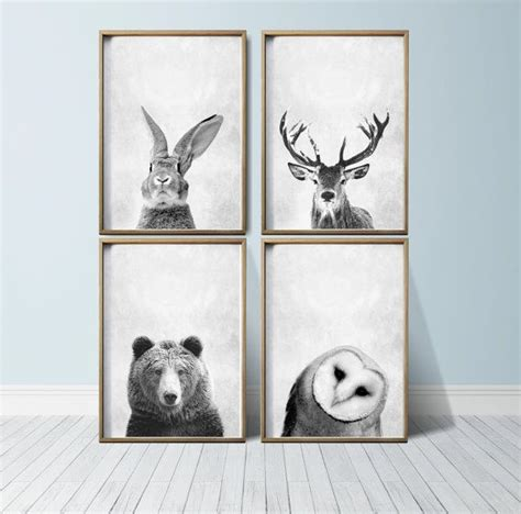 hanging art prints 1000 ideas about woodland animal nursery on pinterest