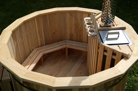 wood hot tub 1 8m wooden hot tub with internal heater lime cross