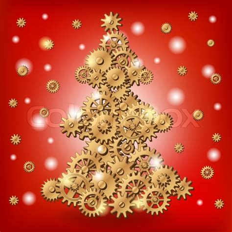 mechanical christmas tree stock vector colourbox