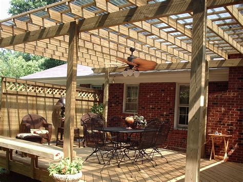 Get The Shade You Need With A Pergola Or Covered Porch Wood Patio Designs