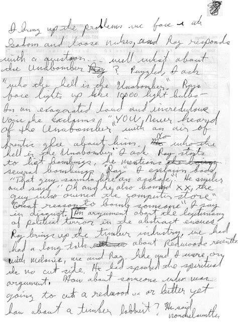 handwriting analysis describing unabomber manifesto 09