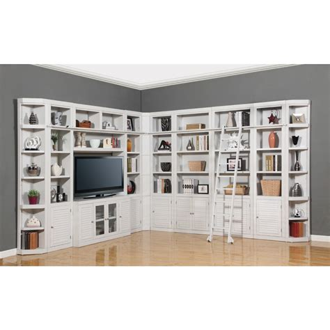 Corner Library Bookcase House Boca 11pc Corner Library Bookcase Wall Unit In Cottage White Finish For 5 086 00 In