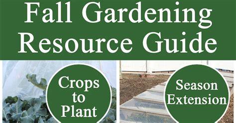 Resource Gardening Fall Gardening Resource Guide Stoney Acres