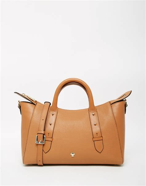 East West Bay Bag modalu leather mini east west tote bag in brown lyst
