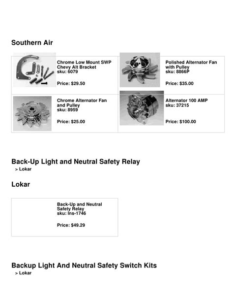 100 lokar neutral safety switch wiring diagram gm